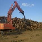 Biasi Legno - cataste di legname da cippatura - Jerzu Ogliastra Sardegna